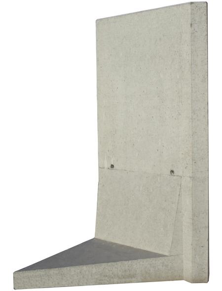 MR. GARDENER L-Stein-Ecke, BxHxL: 100 x 180 x 100 cm, Beton