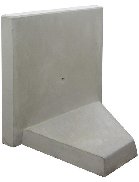 MR. GARDENER L-Stein-Ecke, BxHxL: 100 x 80 x 100 cm, Beton