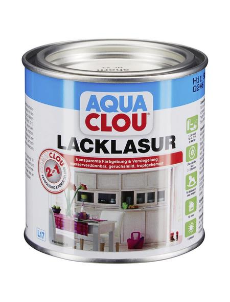 CLOU Lack-Lasur »AQUA«, für innen, 0,0,375 l, Ahorn, seidenmatt