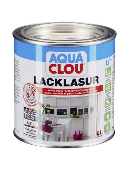 CLOU Lack-Lasur »AQUA«, für innen, 0,0,375 l, farblos, seidenmatt