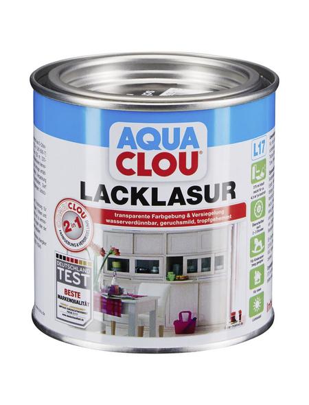CLOU Lack-Lasur »AQUA«, für innen, 0,0,375 l, Schwarz, seidenmatt