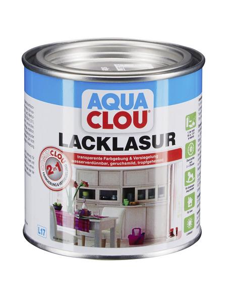 CLOU Lack-Lasur »AQUA«, für innen, 0,0,375 l, Steingrau, seidenmatt