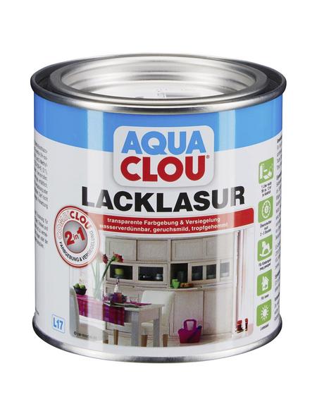 CLOU Lack-Lasur »AQUA«, für innen, 0,0,375 l, weiß, seidenmatt