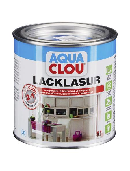 CLOU Lack-Lasur »AQUA«, für innen, 0,375 l, Blau, seidenmatt