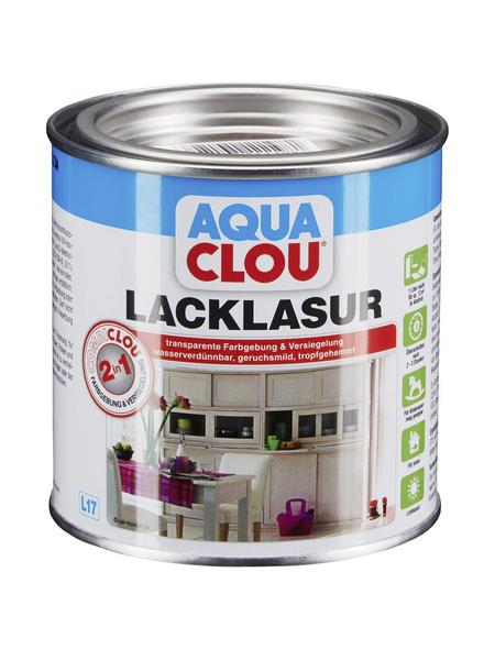 CLOU Lack-Lasur »AQUA«, für innen, 0,375 l, Dunkelnussbraun, seidenmatt