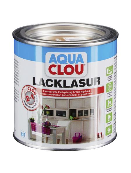CLOU Lack-Lasur »AQUA«, für innen, 0,375 l, Eiche mittel, seidenmatt