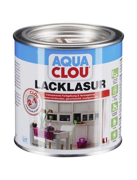 CLOU Lack-Lasur »AQUA«, für innen, 0,375 l, Kastanienbraun, seidenmatt