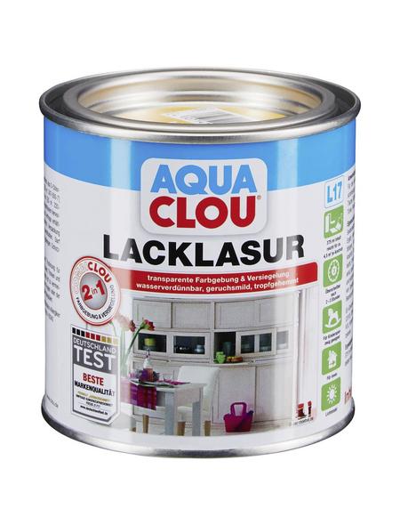 CLOU Lack-Lasur »AQUA«, für innen, 0,375 l, Kiefer, seidenmatt