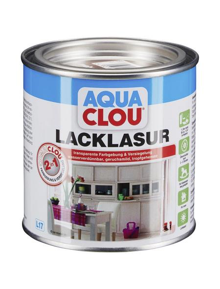 CLOU Lack-Lasur »AQUA«, für innen, 0,375 l, Mahagonibraun, seidenmatt