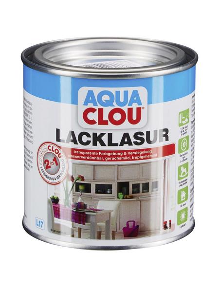 CLOU Lack-Lasur »AQUA«, für innen, 0,375 l, Taubenblau, seidenmatt