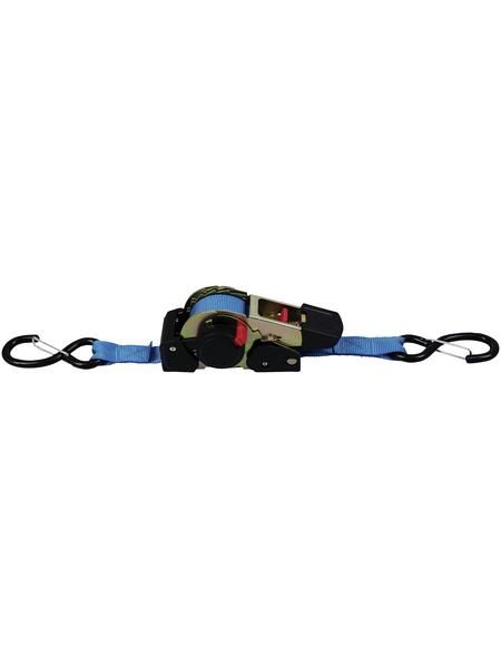 CONNEX Ladungssicherung, Polyester, 600 kg, Blau, 1 Zurrgurt, 300 x 2,5 cm