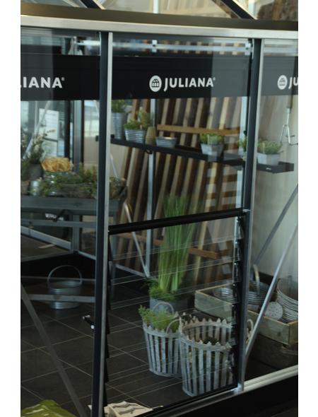JULIANA Lamellenlüfter, BxHxt: 90 x 70 x 0,03 cm, Metall/Glas
