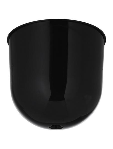 REV Lampenbaldachin, 1-fach, Schwarz, Kunststoff, Glänzend