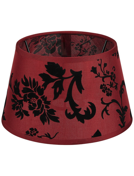 various Lampenschirm, Trend, Rot   Schwarz, 20 cm, Ø 20 x 12,5 cm