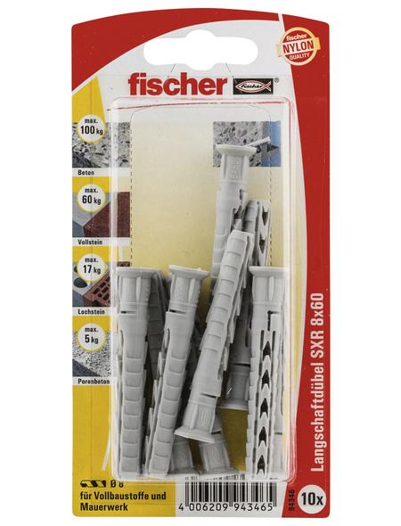 FISCHER Langschaftdübel, 10 Stück, 8 mm