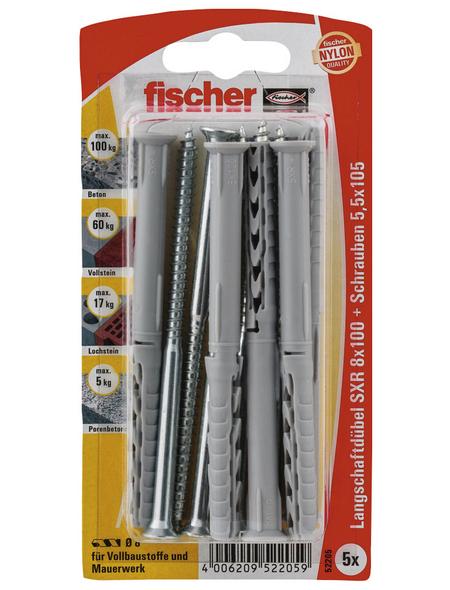 FISCHER Langschaftdübel, 5 Stück, 8 x 100 mm