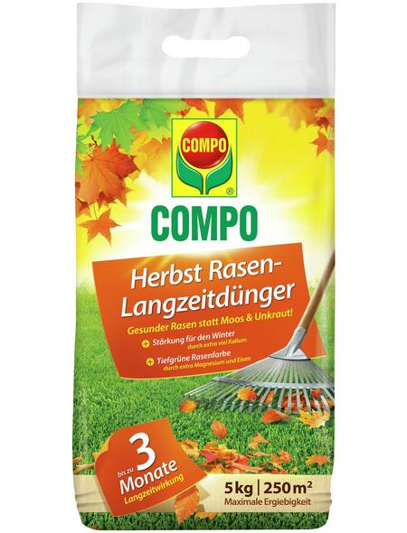 COMPO Langzeitdünger, 5 kg, für 250 m², schützt vor Mangelerscheinungen