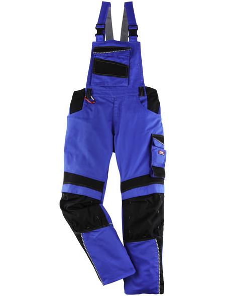 BULLSTAR Latzhose EVO Polyester/Baumwolle kornblumenblau/schwarz Gr. 50