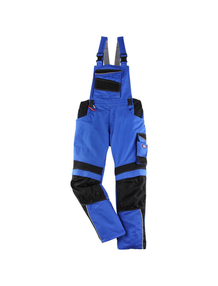 BULLSTAR Latzhose EVO Polyester/Baumwolle kornblumenblau/schwarz Gr. 58
