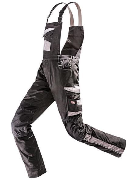 BULLSTAR Latzhose EVO Polyester/Baumwolle schwarz/grau Gr. 46