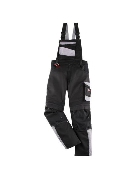 BULLSTAR Latzhose EVO Polyester/Baumwolle schwarz/grau Gr. 48