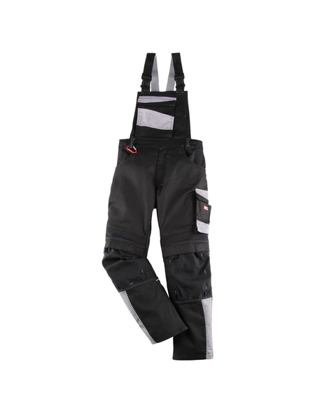 BULLSTAR Latzhose EVO Polyester/Baumwolle schwarz/grau Gr. 58