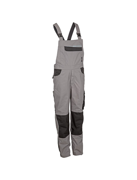 SAFETY AND MORE Latzhose EXTREME Polyester/Baumwolle grau/schwarz Gr. L