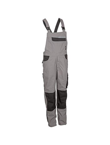 SAFETY AND MORE Latzhose EXTREME Polyester/Baumwolle grau/schwarz Gr. XL