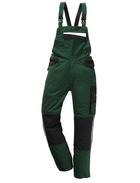 SAFETY AND MORE Latzhose EXTREME Polyester/Baumwolle grün/schwarz Gr. M