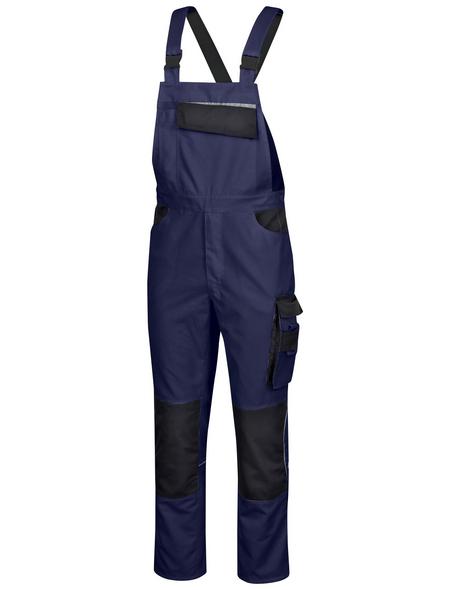 SAFETY AND MORE Latzhose EXTREME Polyester/Baumwolle marine/schwarz Gr. XL