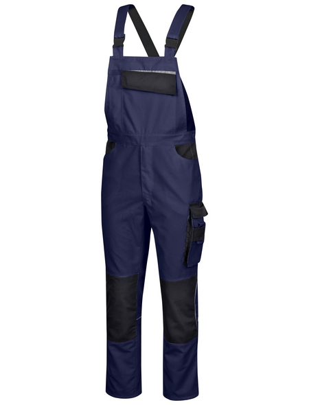 SAFETY AND MORE Latzhose EXTREME Polyester/Baumwolle marine/schwarz Gr. XXL