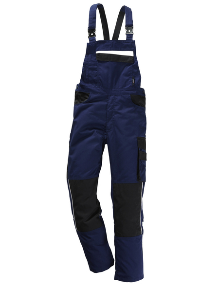 SAFETY AND MORE Latzhose »EXTREME«, Schwarz/Ultramarinblau