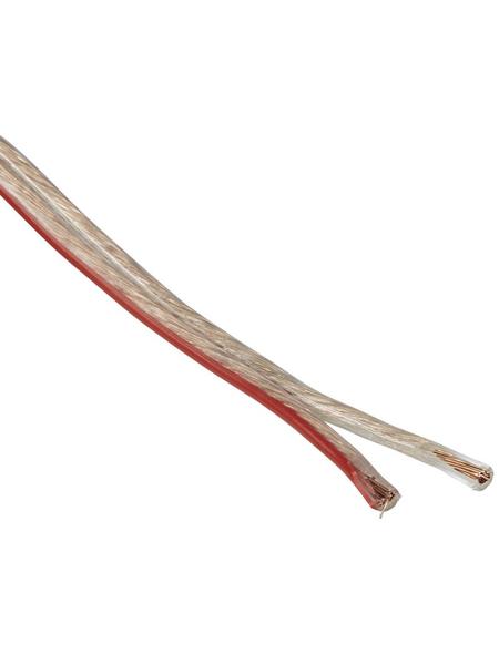 GO/ON! Lautsprecherleitung, Kabelquerschnitt: 2mm², Polyvinylchlorid (PVC)/Kupfer/Aluminium