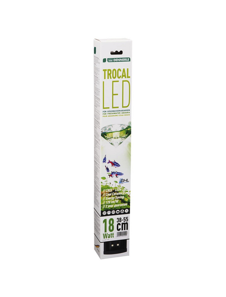 DENNERLE LED-Aquarienleuchte TROCAL 18 W 40 x 6,2 x 2,3 cm