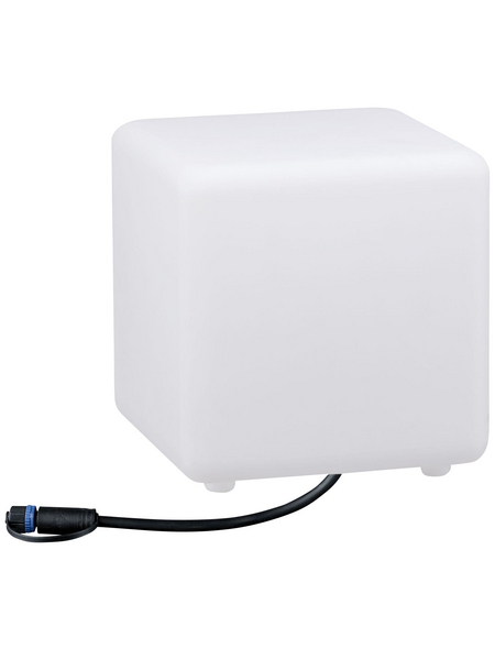 PAULMANN LED-Außenleuchte »Plug & Shine Cube«, 2,8 W, dimmbar, IP67, warmweiß