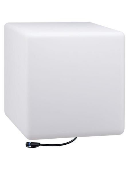 PAULMANN LED-Außenleuchte »Plug & Shine Cube«, 6,5 W, dimmbar, IP67, warmweiß