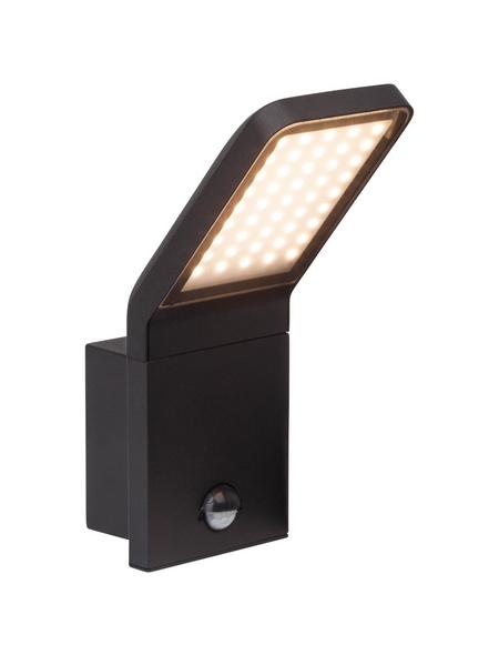 BRILLIANT LED-Außenwandleuchte »Panel«, 9 W, inkl. Bewegungsmelder, IP44, warmweiß