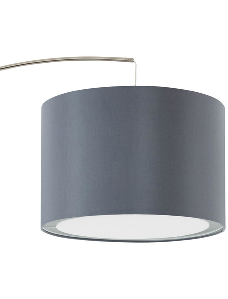 BRILLIANT LED-Bogenstandleuchte »Clarie« grau/eisen, H: 180 cm, E27 ohne Leuchtmittel