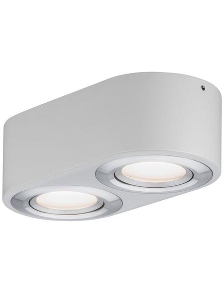 PAULMANN LED-Deckenleuchte aluminiumfarben 2-flammig, dimmbar, inkl. Leuchtmittel