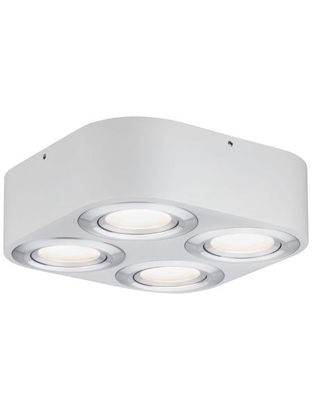 PAULMANN LED-Deckenleuchte aluminiumfarben 4-flammig, dimmbar, inkl. Leuchtmittel