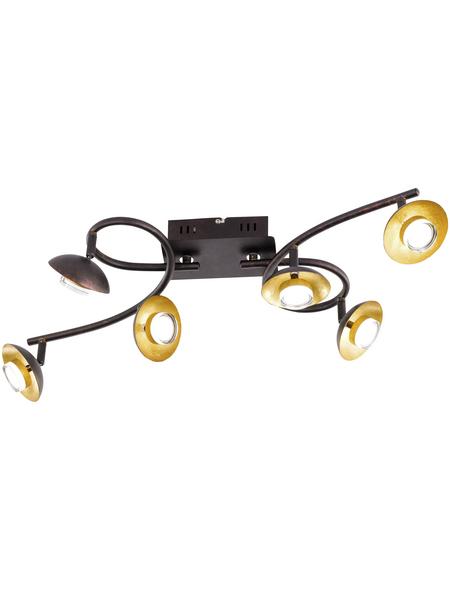 wofi® LED-Deckenleuchte braun 12-flammig, inkl. Leuchtmittel in warmweiß