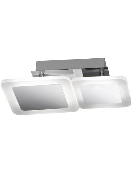 wofi® LED-Deckenleuchte chromfarben 2-flammig, inkl. Leuchtmittel in warmweiß