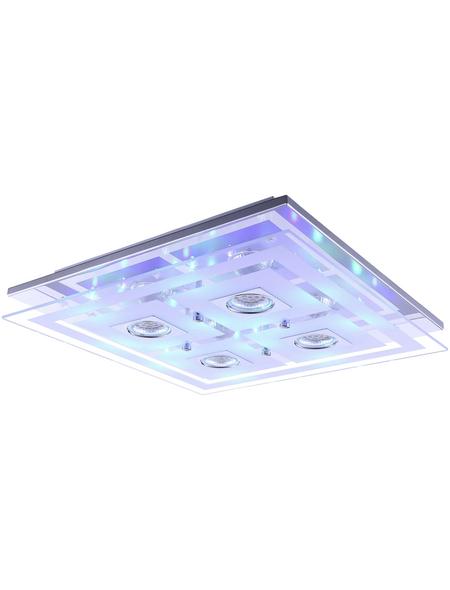 wofi® LED-Deckenleuchte chromfarben 25-flammig, GU10, inkl. Leuchtmittel in warmweiß