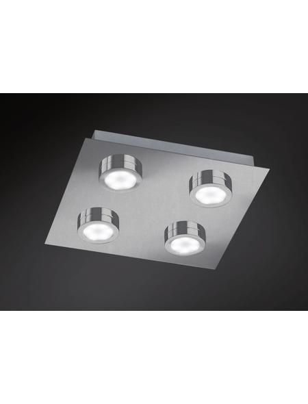 wofi® LED-Deckenleuchte chromfarben 4-flammig, inkl. Leuchtmittel in warmweiß