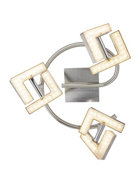 GLOBO LIGHTING LED-Deckenleuchte »EMMA« nickelfarben 3-flammig, inkl. Leuchtmittel in warmweiß