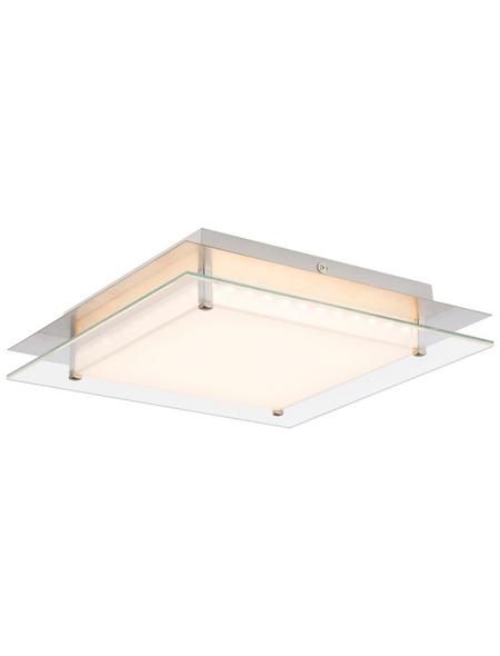 GLOBO LIGHTING LED-Deckenleuchte »EURON« nickelfarben 1-flammig, dimmbar, inkl. Leuchtmittel in warmweiß
