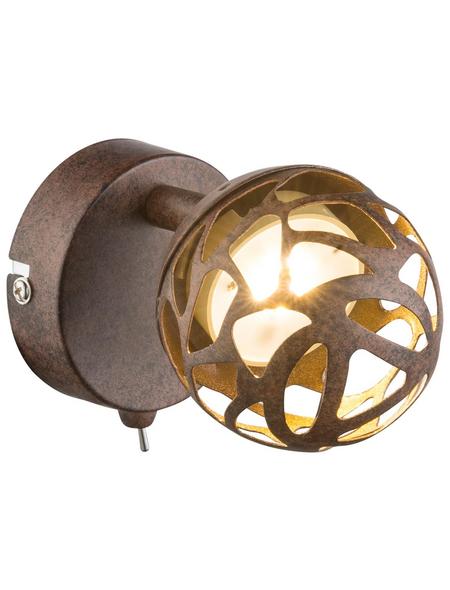GLOBO LIGHTING LED-Deckenleuchte »OHIO« rostfarben 1-flammig, inkl. Leuchtmittel in warmweiß