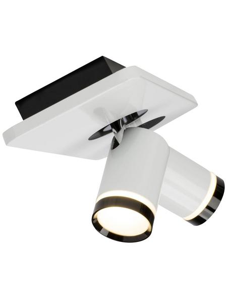 AEG LED-Deckenleuchte weiss/schwarz 2-flammig, dimmbar, inkl. Leuchtmittel