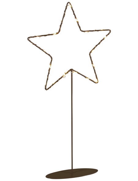 KONSTSMIDE LED-Dekoleuchte, sternförmig, Höhe: 40 cm, batterie