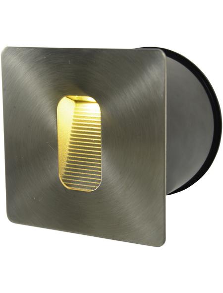 NÄVE LED-Einbaustrahler stahlfarben 1-flammig, inkl. Leuchtmittel in warmweiß